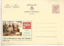 BELGICA ENTERO POSTAL PUBLIBEL CASTILLO CASTLE GESCHIEDENIS VAN DE STEDEN - Castillos