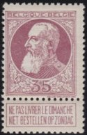 Belgie    .    OBP   .     77  (2 Scans)   .     **  .    Postfris ZONDER  Charnier    .  / .  Neuf SANS  Charniere - 1905 Grove Baard