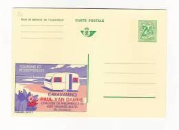 Publibel Neuve N°  2472  (Tourisme Et Résidentielle  Caravanes PAUL VAN DAMME   Nalinnes) - Stamped Stationery