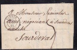 France, Eure - Càd 15 Vernon Sur LAC De 1844 - Storia Postale