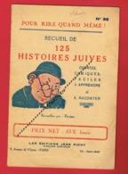 1 Plaquette 18 Pages Recueil De 125 Histoires Juives  édition Jean Picot ( Humour Juif Judaïca Caricature ) - Documentos Antiguos