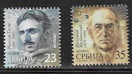 SERBIA, 2019, MNH, NIKOLA TESLA, MILUTIN MILANKOVIC, FAMOUS ENGINEERS, SCIENTISTS, 2v - Famous People
