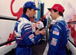 Damon Hill & Heinz-Harald Frentzen 1996 - Original Press Photo - Format 24x17,5cm - Automobile - F1