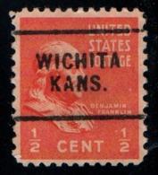 "USA Precancel Vorausentwertung Preo, ""WICHITA"" (Kansas). - Stati Uniti"
