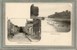 CPA - PORCHEVILLE (78)  - Carte Multivue, Bar Du Pêcheur Et Lavandières En Bord De Seine En 1900 - Porcheville