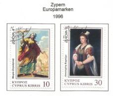 Zypern 1996  Mi.Nr. 877 / 878 , EUROPA CEPT Berühmte Frauen - Gestempelt / Fine Used /(o) - 1996