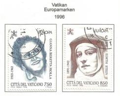 Vatikanstaat 1996  Mi.Nr. 1179 / 1180 , EUROPA CEPT Berühmte Frauen - Gestempelt / Fine Used /(o) - 1996