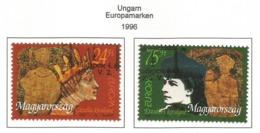 Ungarn 1996  Mi.Nr. 4380 / 4381 , EUROPA CEPT Berühmte Frauen - Gestempelt / Fine Used /(o) - 1996