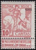 Belgie    .    OBP   .     98      .     **  .    Postfris ZONDER  Charnier    .  / .  Neuf SANS  Charniere - 1910-1911 Caritas