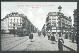 BRUXELLES C.P. Boulevard Du Hainaut Vu De La Place Fontainas + Animation Et TRAM - 14573 - Bruxelles-ville