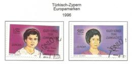 Türkisch-Zypern 1996  Mi.Nr. 428 / 429 , EUROPA CEPT Berühmte Frauen - Gestempelt / Fine Used /(o) - 1996