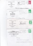 LOT De 18 Lettres Avec ENTÊTE MAIRIES Département Aveyron( Avec Flammes) - Marcophilie (Lettres)