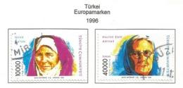 Türkei 1996  Mi.Nr. 3074 / 3075 , EUROPA CEPT Berühmte Frauen - Gestempelt / Fine Used /(o) - 1996