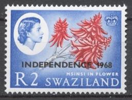 Swaziland 1968 Mi# 155Y** DEFINITIVE, INDEPENDENCE - Swaziland (1968-...)
