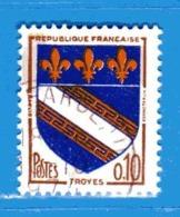 France °- 1962 - Armoiries De Villes,  Yvert. 1353a - Trois Bandes De Phosphore.   Oblitéré. - Frankreich