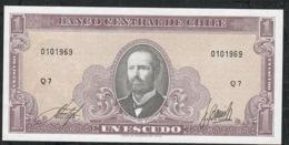 CHILE P136 1 ESCUDO (1964)  #Q7     UNC. - Chili