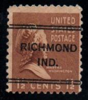 "USA Precancel Vorausentwertung Preo, ""RICHEMOND"" (Ind). - Stati Uniti"