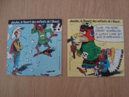 LOT DE 2 PUZZLES LUCKY LUKE YAOURT JANJAC 1983 DARGAUD EDITEUR - Puzzles