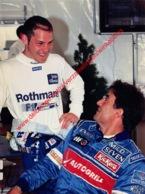 Jacques Villeneuve & Jean Alesi Estoril 1996 - Original Press Photo - Format 24x17,5cm - Automobile - F1