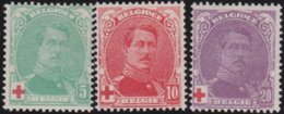 Belgie    .    OBP   .     129/131 .     **  .    Postfris ZONDER  Charnier    .  / .  Neuf SANS  Charniere - 1914-1915 Croix-Rouge