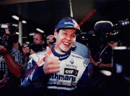 Jacques Villeneuve Australia 1996 - Original Press Photo - Format 24x17,5cm - Automobile - F1
