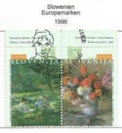 Slowenien / Slovenija 1996  Mi.Nr. 142 / 143 , EUROPA CEPT Berühmte Frauen - Gestempelt / Fine Used /(o) - 1996