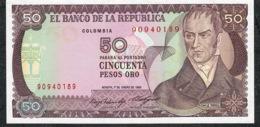 COLOMBIA P425a 50 PESOS ORO  1.1.1985  UNC.. - Colombia