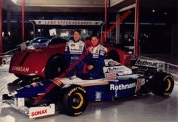 Jacques Villeneuve & Heinz-Harald Frentzen 1997 Williams F1 - Original Press Photo - Format 24x17,5cm - Automobile - F1