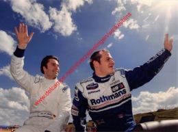 Jacques Villeneuve & Heinz-Harald Frentzen 1996 Williams F1 - Original Press Photo - Format 24x17,5cm - Automobile - F1