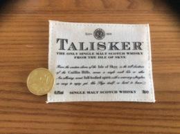 Etiquette Tissu «SCOTCH WHISKY - TALISKER» - Whisky