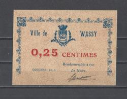 FRANCE. Bon  De Nécessité  De WASSY - Bons & Nécessité