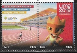 PERU, 2018, MNH, SPORTS, ATHLETICS, LIMA GAMES 2019, 2v - Athletics