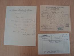 LOT DE FACTURES MONTARGIS GUESNE L'ECLAIREUR DU GATINAIS MUTUELS - 1900 – 1949