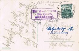 33855. Postal Postablage, Carteria,  Post Agentur RADEBURG / Reichenberg (Liberec) (Checoslovaquia) 1938 - Czechoslovakia