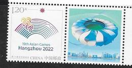 CHINA, 2019, MNH, SPORTS, ASIAN GAMES , HANGZHOU 2022, 1v+TAB - Stamps
