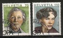 Schweiz / Helvetia  1996  Mi.Nr. 1581 / 1582 , EUROPA CEPT Berühmte Frauen - Gestempelt / Fine Used /(o) - 1996