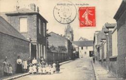 CPA 60 BRESLES RUE DES ECOLES 1908 - Autres Communes