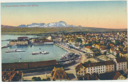 70-21 Helvetia Schweiz Switzerland Suisse Romanshorn Hafen Mit Säntis - Suisse