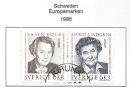 Schweden / Sverige  1996  Mi.Nr. 1581 / 1582 , EUROPA CEPT Berühmte Frauen - Gestempelt / Fine Used /(o) - 1996