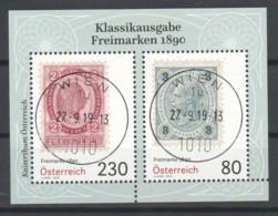 """Österreich 2019: Block """"Freimarken 1890"""" Gestempelt (s.Foto) - 1945-.... 2. Republik"""