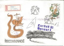REPUBLICA CHECA CC CERTIFICADA DEVUELTA RETOUR EUROPA CEPT MARCO POLO - Exploradores