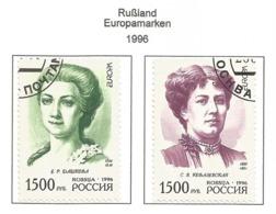 Rußland / Rossija  1996  Mi.Nr. 499 / 500 , EUROPA CEPT Berühmte Frauen - Gestempelt / Fine Used /(o) - 1996