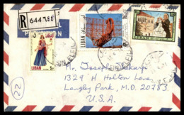 E11 Rare Cancel SIN EL FIL On A Beautiful Cover Dated 1974 And Sent To The USA - Lebanon