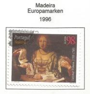Portugal / Madeira 1996  Mi.Nr. 182 A , EUROPA CEPT - Berühmte Frauen - Gestempelt / Fine Used / (o) - 1996