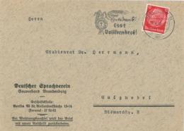 Deutscher Sprachverein Brandenburg Berlin SW - Esst Vollkornbrot Erntedank - Hindenburg 1940 - Briefe U. Dokumente