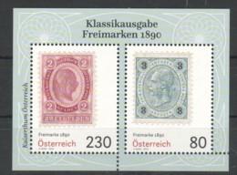"""Österreich 2019:  Block """"Freimarken 1890"""" Postfrisch (siehe Foto) - 1945-.... 2. Republik"""