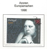 Portugal / Azoren 1996  Mi.Nr. 456 A , EUROPA CEPT - Berühmte Frauen - Gestempelt / Fine Used / (o) - 1996