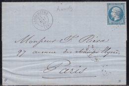 France, Landes - GC 1909 De Lebouheyre Sur LSC De 1866 - Poststempel (Briefe)
