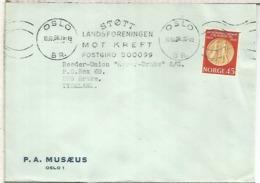 NORUEGA CC 1968 OSLO MAT STOTT LANDSFORENINGEN MOT KREFT - Noruega