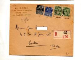 Lettre Recommandée Paris Sur Expo Coloniale Blanc - Postmark Collection (Covers)